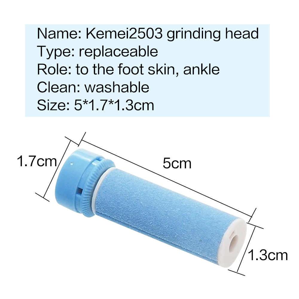 KEMEI KM2503 Elettrico Callo Del Piede Piedi di Rimozione Strumento di Cura Esfoliante La Pelle Morta Rimozione Pedicure Rullo Rettifica Testa di Ricambio