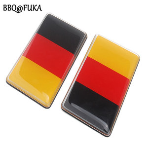 BBQ@FUKA 1X Aluminum Germany Flag Rear Emblem Badge Decal Sticker Fit For VW MK7 MK6 Golf CC GTI Jetta Waterproof Accessories