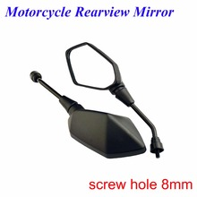 1 pair motorcycle rearview mirror bulge 8mm with motorcycle rearview Side mirror For honda yamaha Kawasaki z750 Suzuki Ducati