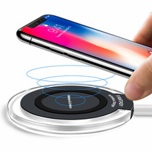 10W Qi Wireless Charger for iPhone 8/X Fast Wireless Charging for Samsung S8/S8+/S7 Edge Nexus 5 Lumia 820 USB Charger Pad стоимость
