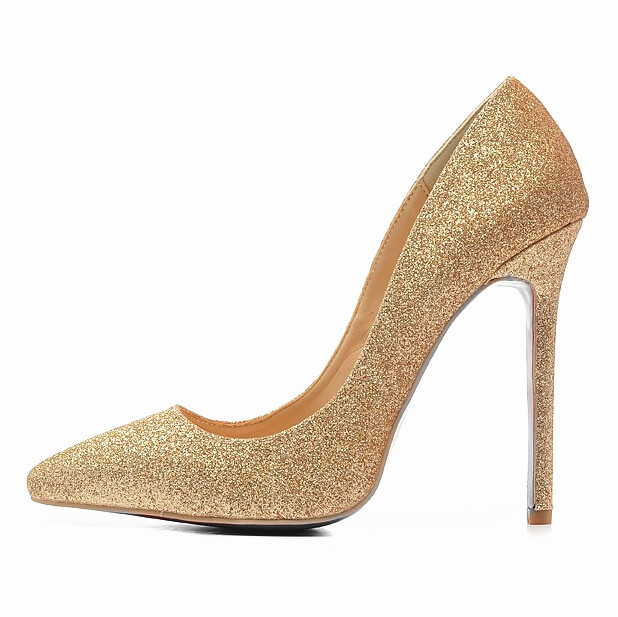 Shoes Woman 12CM High Heels Gold Shoes Women Pumps Pointed Toe Ladies Wedding Shoes Thin Heels Glitter Shoes Zapatos Mujer F-008 2017 new spring summer shoes for women high heeled wedding pointed toe fashion women s pumps ladies zapatos mujer high heels 9cm