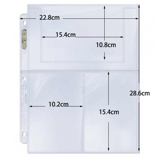 20pcs 3 pockets 102mmx150mm ultra pro card pages board game cards holder barriers image