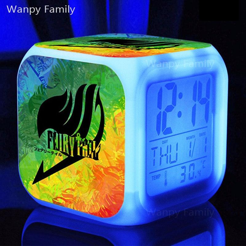 Magic world Fairy Tail Alarm Clock,Color changing Digital Alarm Clock For kids room Multifunction toy alarm clocks