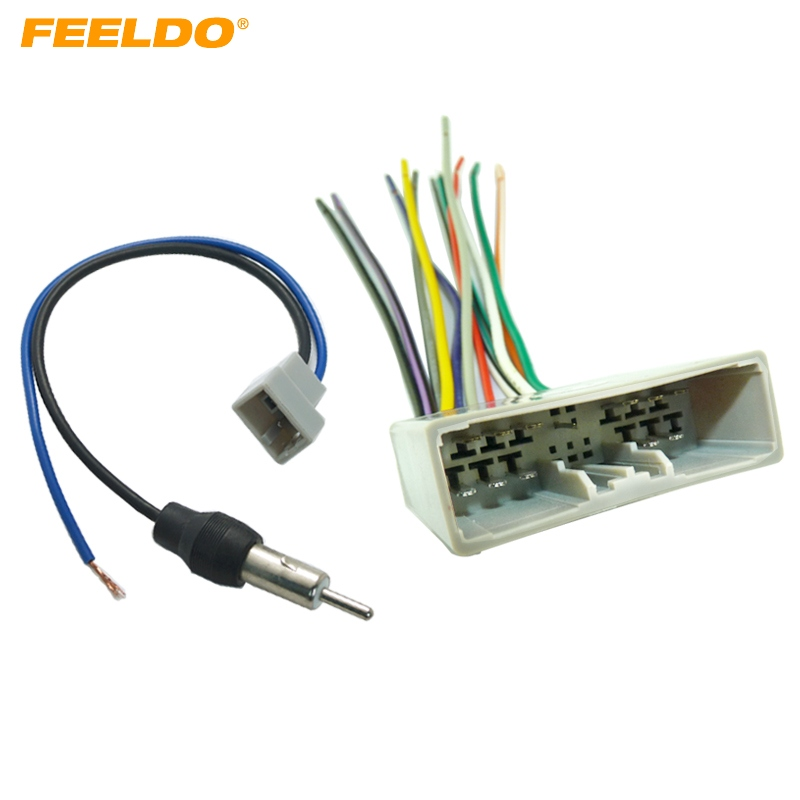 Feeldo 1set Car Radio Audio Stereo Wire Harness Antenna