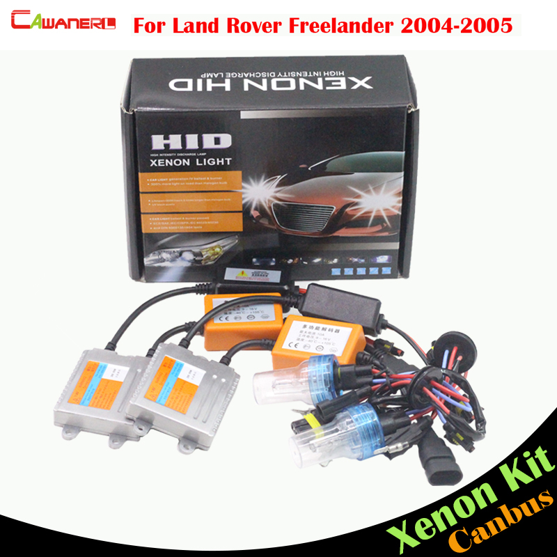 Cawanerl 55W H7 Auto Canbus Ballast Bulb HID Xenon Kit AC Car Light Headlight Low Beam For Land Rover Freelander 2004-2005 cawanerl for suzuki verona 2004 2006 h7 55w auto canbus ballast lamp 3000k 8000k ac hid xenon kit car headlight low beam
