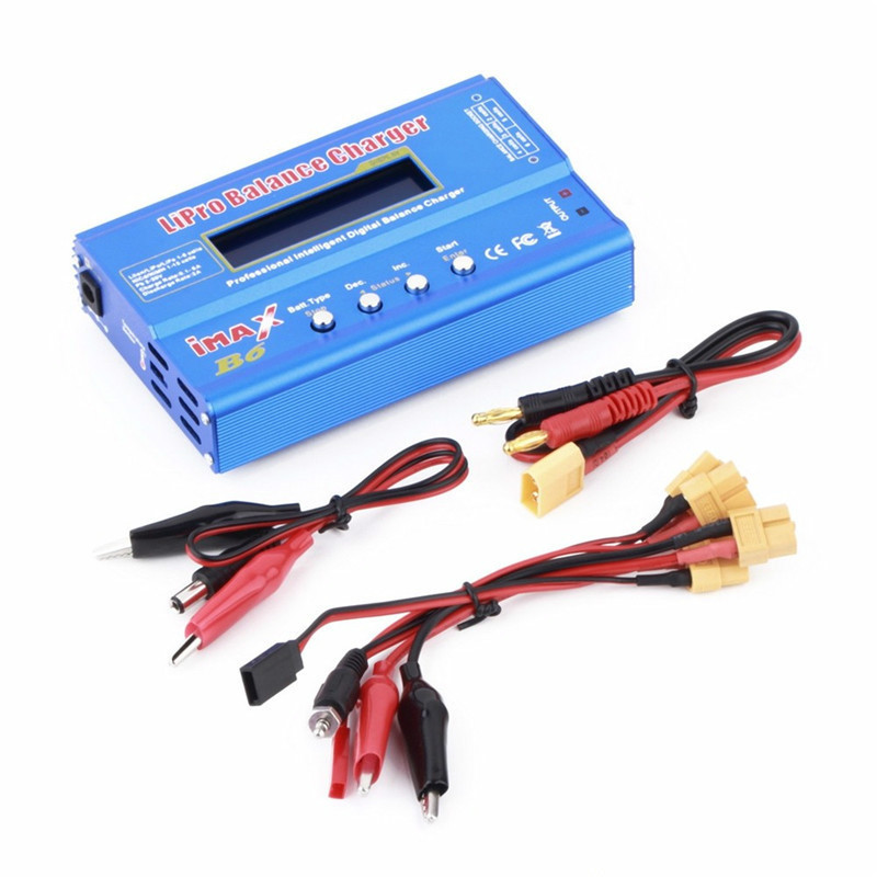 IMAX B6 80W Multi-function 1-6 Cells XT60 LiPo Battery Digital Balance Charger Discharger with Cables Line Input 12V 16V 1Set