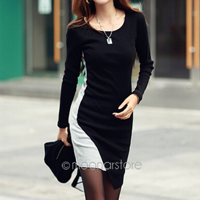Mini Tricot Women Dress Round Neck Korean Clothes Slim Dresses Bodycon  Cotton Knitted Winter Dress 2018 plus size 1048d688da38
