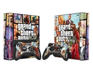 Image 4 - Grand Theft Auto 5 GTA 5 비닐 스킨 스티커 For Microsoft Xbox 360 E 슬림 콘솔 컨트롤러 Controle For x box 360 Slim E Decal
