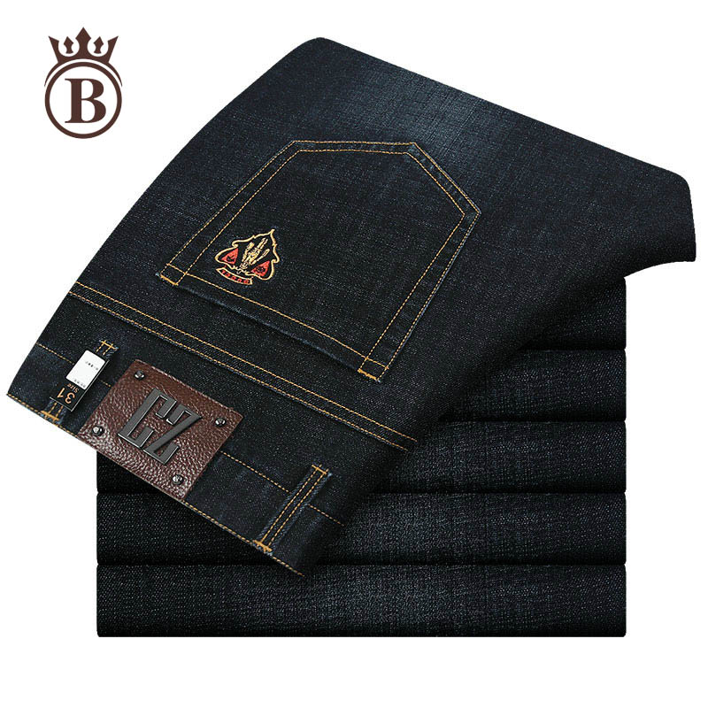Spring Young Men Trendy Trend All-Matching Thin Section Comfortable Business Fit Loose Casual Men 's Jeans men s young men s jeans wholesale price