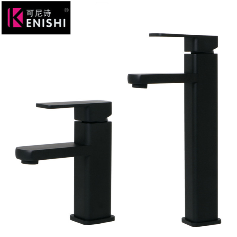 304 stainless steel paint basin faucet spray color wash face black basin faucet hight kitchen undercounter chanleng