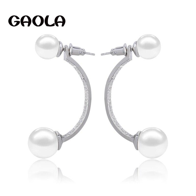 5 Paire 7-8 mm blanc naturel Akoya Cultured Pearl Argent Clous d/'oreilles AAA