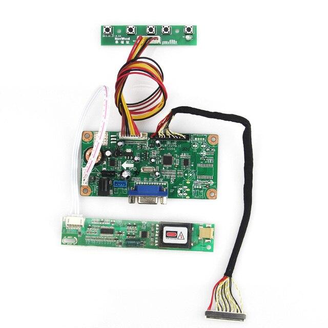 Placa VGA Para CLAA154WA05A LTN154AT01 LCD/LED Monitor de Placa De Controle do Driver 1280x800 LVDS Reutilizar Laptop