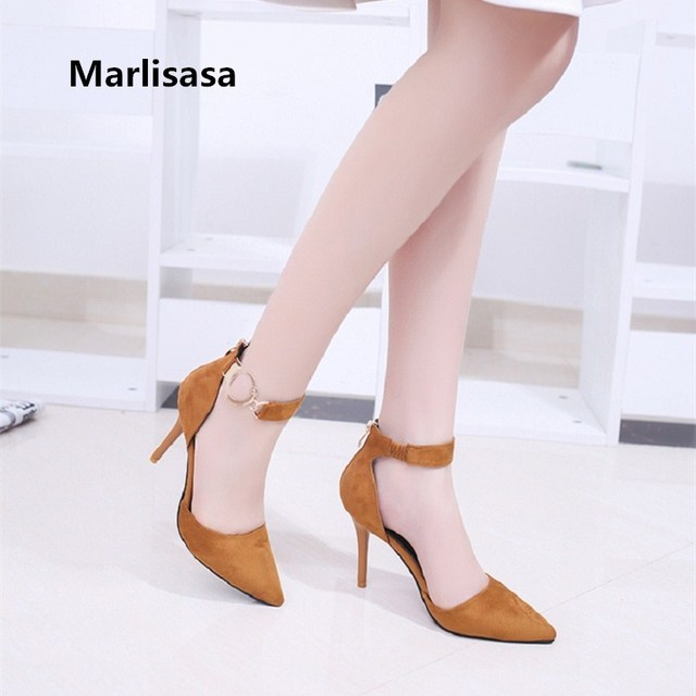 Women Cute Buckle Strap High Quality and Heel Shoe