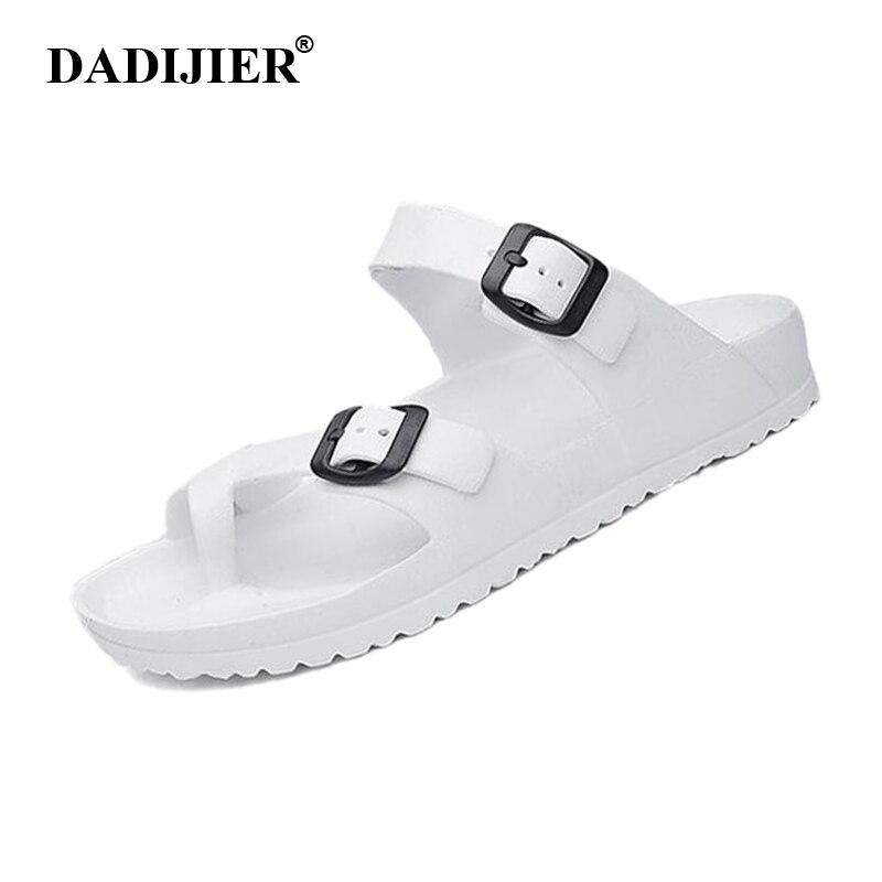 DADIJIER Mens Classic Mule Sandals Summer Slip On Open Toe Slides Casual Beach Shoes Birken EVA Shock Absord Garden Clogs ST268