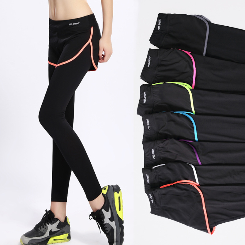 New High Waist font b Women b font Yoga Tights Pants Exposed Fitness Sports font b