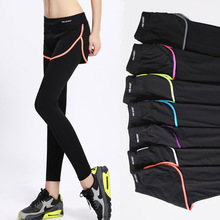 New High Waist  Women Yoga Tights Pants Exposed Fitness Sports Leggings Quick-Drying Stretch Outdoor Training Female Pantyhose