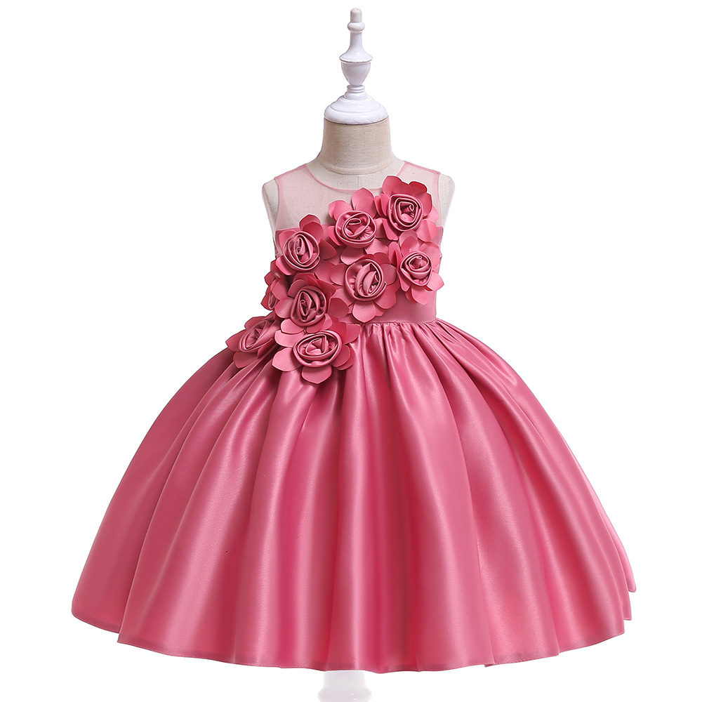 Lovely   Flower     Girl     Dresses   For Wedding Party Little   Girl   Princess Formal Gown 201Flower 9 Kids Dinner Prom   Dress   In Stock
