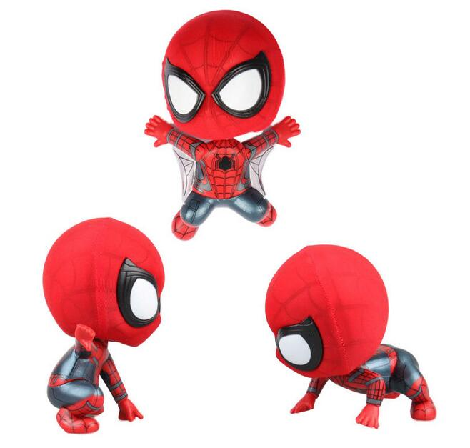 NEW hot 7-9cm Q version Spider-Man Homecoming Avengers action figure toys Spiderman doll Christmas gift with box