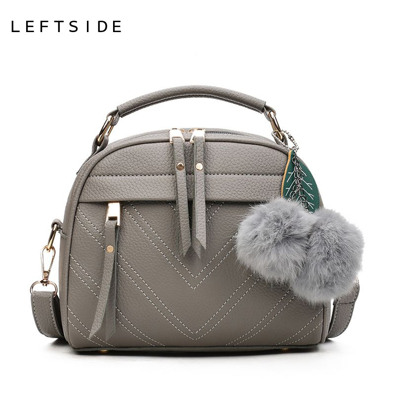 LEFTSIDE New PU Leather Handbag Female Fashion Designer Shoulder Bag Lady Leisure Brand Women Messenger Bag for Women Hand Bags leftside new pu leather handbag female fashion designer shoulder bag lady leisure brand women messenger bag for women hand bags