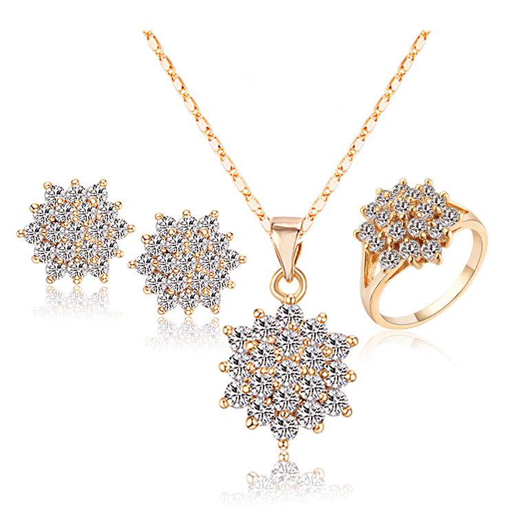 Brand African Jewelry Set Necklaces & Pendants Earrings Rings Brincos Bijoux Women Bijuterias Fashion Jewellery Set S0278