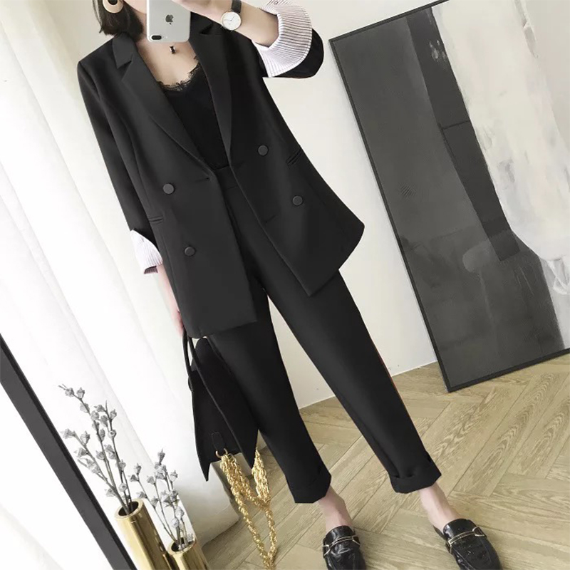 New Arrival Women Professional Temperament Fashion Long Suit Work Style Trend Pant Comfortable Wild Plus Size Elegant Pant Suits