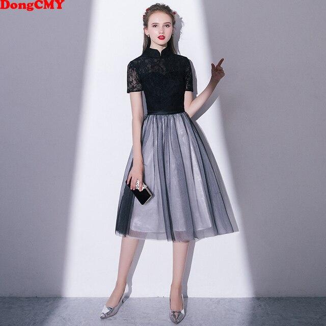 Fiesta Negro Elegante 2019 Vestidos De Encaje Sexy Nuevo