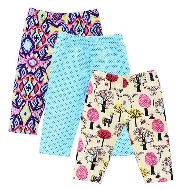 2019 Little Q New Arrival Cotton Pants Girls Autumn Legging 3 pcs/lot knee length pants Capris Baby Clothes Child Kids Clothing