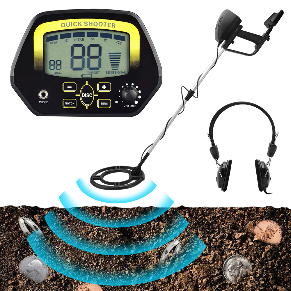High Sensitivity Upgrade MD4060 Metal Detector Gold Finder Digger Search Treasure Hunter Underground Detecting LCD Display