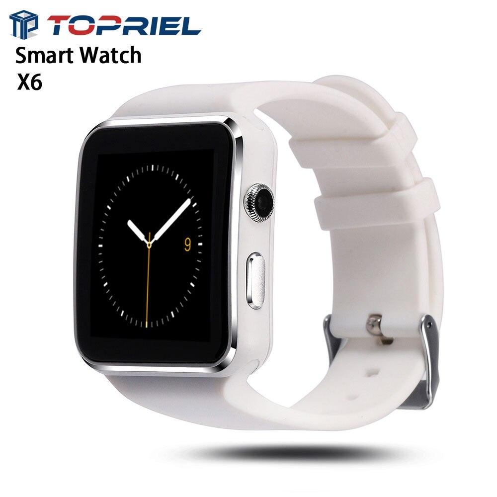 2016 Bluetooth Smart Watch X6 Camera Sport Facebook whatsapp Calculator Alarm Clock font b Smartwatch b