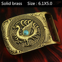 Retail 2015 New Fashion Men S Solid Brass Lined High Grade Turquoise Eagle Belt Buckle For