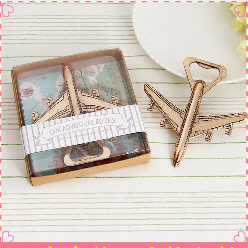 Bronze Aircraft Opener Gift Pack 20pcs / lot Wedding favor Festive & Party Supplies Best ...