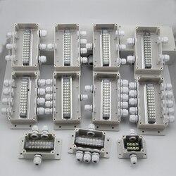 Wysokiej jakości ABS DIY wodoodporna skrzynka przyłączeniowa z tworzywa sztucznego  wielofunkcyjny elektryczny rozdzielacz z TB skynka zaciskowa TB1508 TB-1512