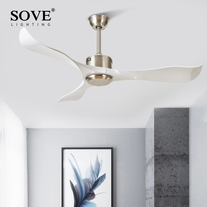 Sove Modern Ceiling Fans Without Light