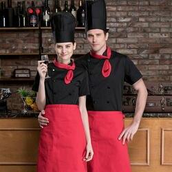 Для мужчин шеф повар двубортный короткий рукав работы футболки Ресторан Кухня куртка для повара оптовая продажа Питание Бар официант