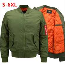 2018 new casual stand-up pilot jacket men thicken increase bomber youth streetwear S-6XL