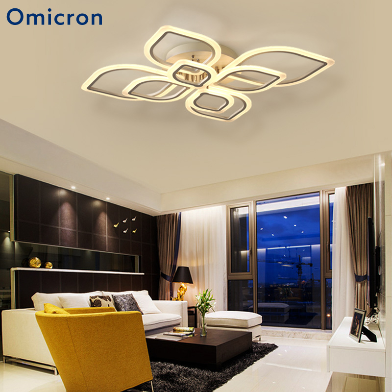 Omicron Modern Creative High-end Led Chandeliers Flower Rings White Acrylic Body Lamp For Living Room Bedroom Lamp FixturesOmicron Modern Creative High-end Led Chandeliers Flower Rings White Acrylic Body Lamp For Living Room Bedroom Lamp Fixtures