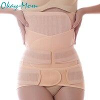 3 Pieces/Set Maternity Postnatal Belt After Pregnancy Bandage Belly Band Waist Corset Pregnant Women Slim Shapers Underwear