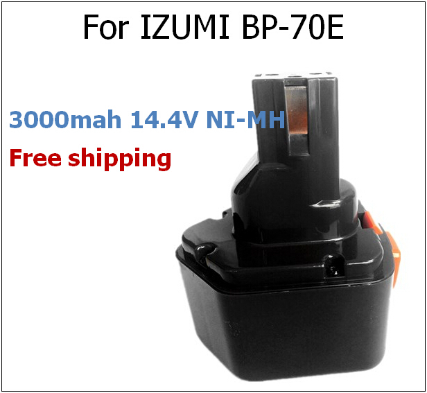 ФОТО 14.4V 3000mAh NI-MH BP-70E Replacement Power Tool Rechargeable Battery For IZUMI REC-S24 REC-S13D BP-70EI REC-5431 SB-3UK EWC-50