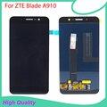 Para zte blade a910 ba910 display lcd touch screen digitador assembléia original nova frete grátis com ferramentas