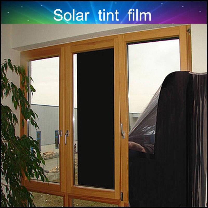 Maison & Jardin Décoration De Fenêtre Film Noir Teinte Protection de La Vie Privée Film PET/2 COUCHE Avec Prix Usine