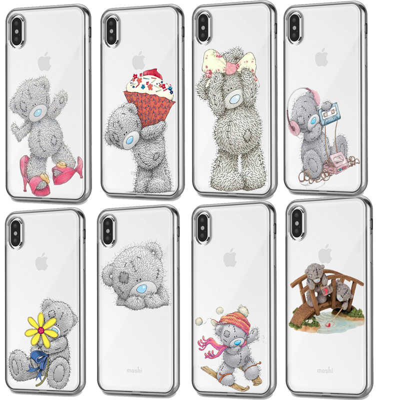 Siliconen telefoon case Voor iphone XS Max case Tatty Teddy Ik Je Beer Telefoon case Covers Voor iphone 11Pro 5 SE 6S 7 8plus XR case