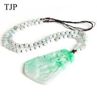 TJP изумруд красивый камень Jade Феникс Jewelry аксессуары Аутентичные ожерелье WH1842 Бесплатная доставка