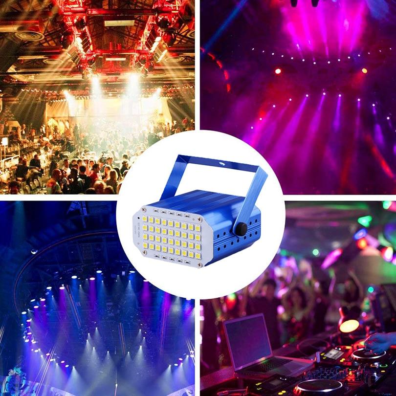 Купить с кэшбэком High Qualtiy 36leds SMD 5050 Led Strobe Light Rotating Voice Activated LED Stage Lights Party festa Disco Stroboscope Bulb