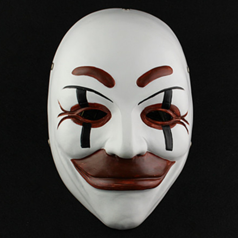 Free Shipping Who Am I - No System Is Safe Resin Party Mask Halloween Masquerade Cosplay Costumes Props Movie Collections
