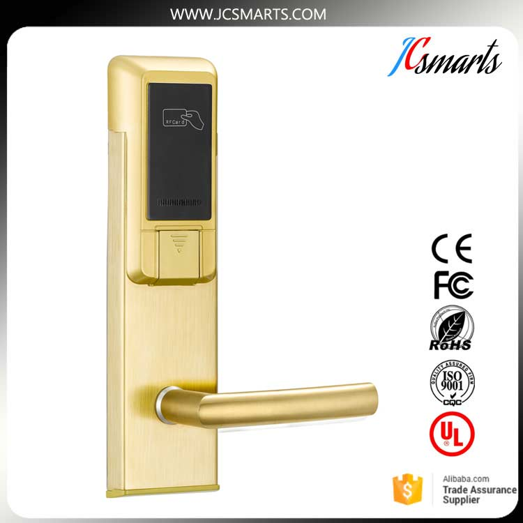 Korea digital door lock electric sliding door locks RFID electronic hotel lock using magnetic card ospon sliding door locks invisible door