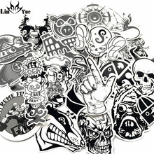 New 60 PCS Black and White Sticker Skateboard Graffiti Decal Toy Laptop Bicycle Motorcycle Car Styling Doodle DIY Cool Stickers(China)