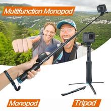 Handheld Tripod Mount Selfie Stick Extendable Monopod for Gopro Hero7 6 5 4 3+ SJCAM Xiaomi YI 4k EKEN H9 Sony Sport Camera carrying case eva box storage bag selfie stick monopod for xiaomi yi 4k 2 xiaoyi 4k lite sport action camera accessories
