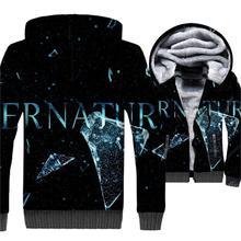 Black Blue 3D Supernatural Hoodies For Men 2019 Fashion Winter Thick Sweatshirts Streetwear Zipper Tracksuit Casual Cool Jackets