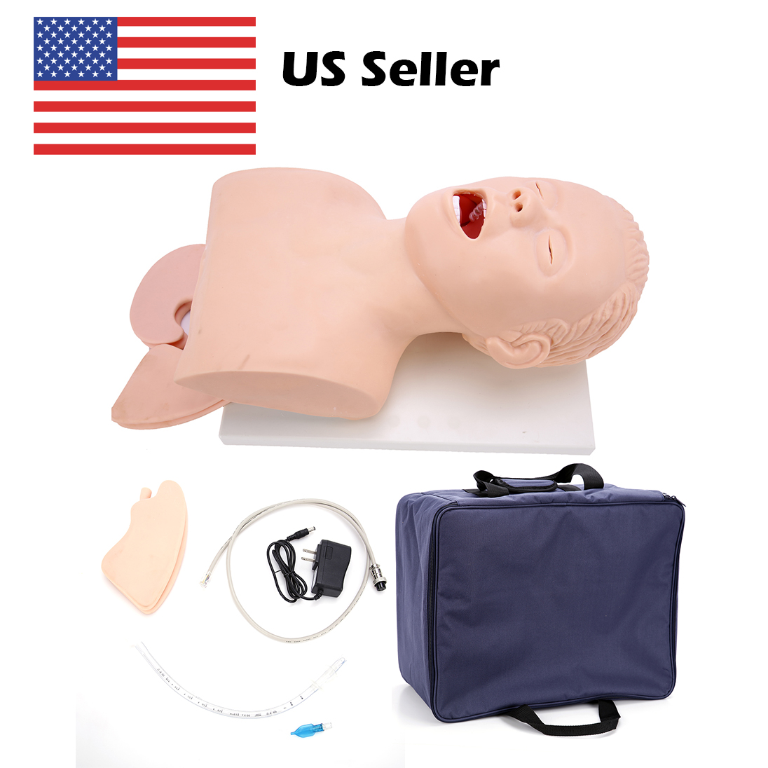 Electronic Adult Trachea Intubation Training Model Adult Intubation Head Model with Alarm Device Intubation Manikin Study Model new child trachea intubation model intubation training model with soft and vivid head and trachea