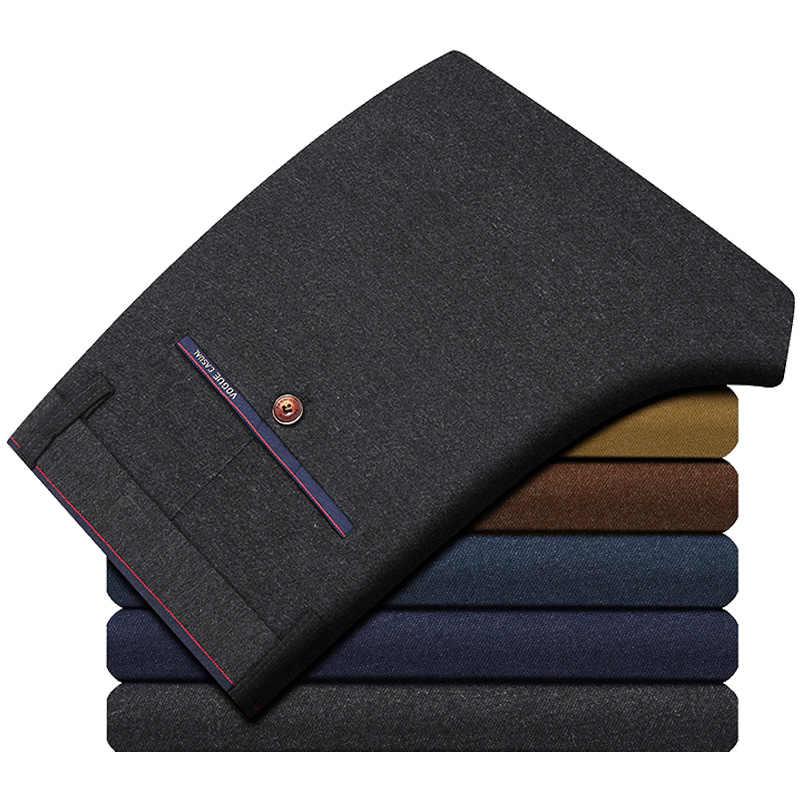 Nella primavera del 2020 pantaloni di lana mulino panno pantaloni di affari degli uomini di coltiva la sua moralità scatola metallica diritta